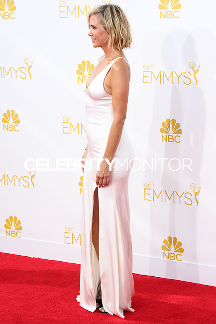 LOS ANGELES, CA, USA - AUGUST 25: Actress Kristen Wiig arrives at the 66th Annual Primetime Emmy Awards held at Nokia Theatre L.A. Live on August 25, 2014 in Los Angeles, California, United States. (Photo by Celebrity Monitor)