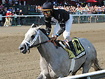 Wired Bryan (no. 4), ridden by Shaun Bridgmohan and trained by Michael Dilger, wins the 99th running of the grade 2 Sanford Stakes for two year olds on July 21, 2013 at Saratoga Race Track in Saratoga Springs, New York.  (Bob Mayberger/Eclipse Sportswire)