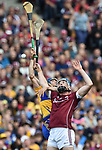 David Mc Inerney of Clare in action against Conor Cooney of Galway during their All-Ireland semi-final at Croke Park. Photograph by John Kelly.