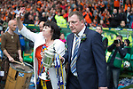 St Johnstone v Dundee United....17.05.14   William Hill Scottish Cup Final<br /> Roddy Grant walks onto the pitch with the Scottish Cup<br /> Picture by Graeme Hart.<br /> Copyright Perthshire Picture Agency<br /> Tel: 01738 623350  Mobile: 07990 594431