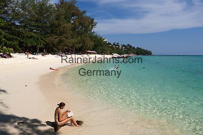 Thailand, Krabi Province, Andaman Coast, Ko Phi Phi Island, Phi Phi Don Island: Long Beach | Thailand, Provinz Krabi, Andamanen Kueste, Ko Phi Phi Insel, Phi Phi Don Island: Long Beach