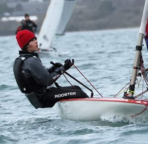 Topper sailor Danny Palmer of Ballyholme Yacht Club