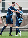 Forfar's Chris Templeman celebrates with Forfar's Gavin Malin (6) after he scores their first goal.