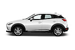 Car Driver side profile view of a 2015 Mazda CX-3 Pure Edition 5 Door Suv Side View