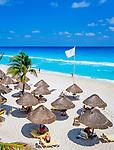 Mexiko, Yucatan, Quintana Roo, Cancun: Traumstrand am Karibischen Meer | Mexico, Yucatan, Quintana Roo, Cancun: Beach Scene