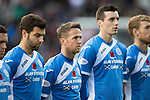 Hearts v St Johnstone…05.11.16  Tynecastle   SPFL<br />Richie Foster, Chris Millar and Joe Shaughnessy show their respect before kick off<br />Picture by Graeme Hart.<br />Copyright Perthshire Picture Agency<br />Tel: 01738 623350  Mobile: 07990 594431