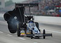 Apr. 29, 2012; Baytown, TX, USA: NHRA top fuel dragster driver David Grubnic during the Spring Nationals at Royal Purple Raceway. Mandatory Credit: Mark J. Rebilas-