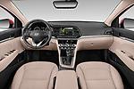 Stock photo of straight dashboard view of 2020 Hyundai Elantra Limited 4 Door Sedan Dashboard