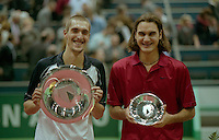 2001, Tennis, Rotterdam, ABNAMROWTT, Winner Escude and finalist Roger Federer