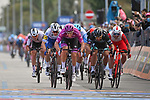 Maglia Ciclamino French Champion Arnaud Demare (FRA) Groupama-FDJ outsprints Peter Sagan (SVK) Bora-Hansgrohe to win Stage 11 of the 103rd edition of the Giro d'Italia 2020 running 182km from Porto Sant'Elpidio to Rimini, Italy. 14th October 2020.  <br /> Picture: LaPresse/Massimo Paolone | Cyclefile<br /> <br /> All photos usage must carry mandatory copyright credit (© Cyclefile | LaPresse/Massimo Paolone)