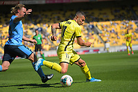 Jaushua Sotiro in action during the A-League football match between Wellington Phoenix and Sydney FC at Sky Stadium in Wellington, New Zealand on Saturday, 21 December 2019. Photo: Dave Lintott / lintottphoto.co.nz