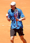 John Isner during Madrid Open Tennis 2015 match.May, 4, 2015.(ALTERPHOTOS/Acero)