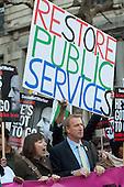 TUC Deputy General Secretary Frances O'Grady. Strike by public sector workers over pensions.  London