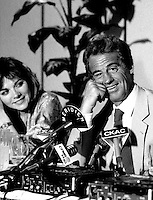May 6, 1985 File Photo -  News conference for the movie HOLD UP ( a French-Quebec co production shot in Montreal) with actors  Kim Katrall, Jean-Paul Belmondo