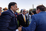 MAY 01, 2021:  Amr Zedan embraces trainer Bob Baffert after winning the Kentucky Derby at Churchill Downs in Louisville, Kentucky on May 1, 2021. EversEclipse Sportswire/CSM