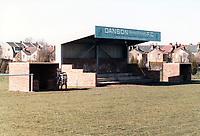 General view of Danson (Bexley Borough) FC, Crook Log, Brampton Road, Bexleyheath, Kent, pictured on 4 April 1988