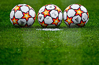 Adidas official balls of the match are seen behind the goal net  during the Uefa Champions League group B football match between AC Milan and Atletico Madrid at San Siro stadium in Milano (Italy), September 28th, 2021. Photo Andrea Staccioli / Insidefoto