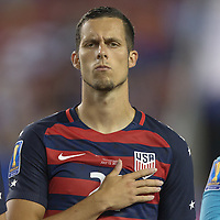 Tampa, FL - July 12, 2017: Matt Hedges The USMNT (USA) defeated Martinique (MAR) 3-2 in a 2017 Gold Cup group stage match at Raymond James Stadium.