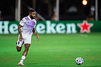 LAKE BUENA VISTA, FL - AUGUST 06: Ruan #2 of Orlando City SC dribbles the ball during a game between Orlando City SC and Minnesota United FC at ESPN Wide World of Sports on August 06, 2020 in Lake Buena Vista, Florida.