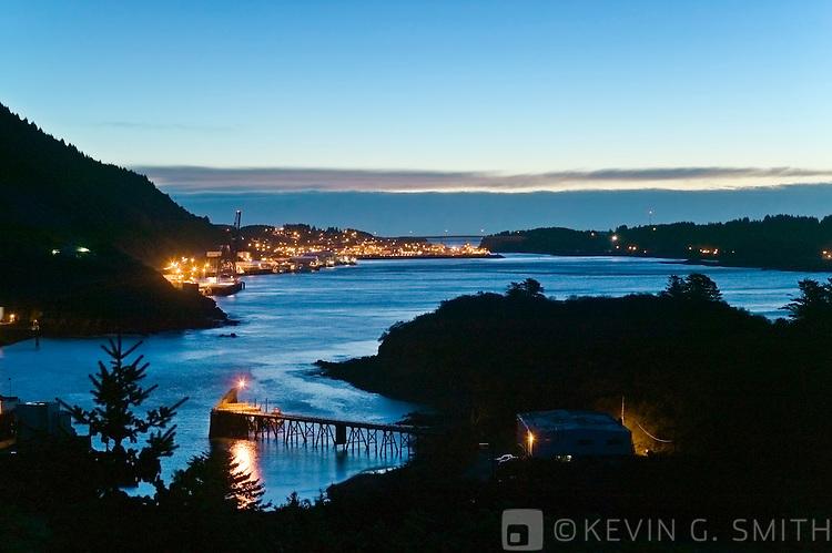 St Paul Bat Harbor at twilight, Kodiak Alaska. USA.