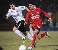 KSV Roeselare - KV Kortrijk..Mohamed Messoudi aan de bal met naast zich Vincent Provoost (links)..foto VDB / BART VANDENBROUCKE