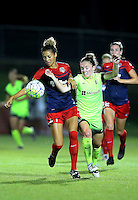Boyds, MD - Wednesday Sept. 07, 2016: Estelle Johnson, Kim Little during a regular season National Women's Soccer League (NWSL) match between the Washington Spirit and the Seattle Reign FC at Maureen Hendricks Field, Maryland SoccerPlex.