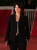"""Mayor of Rome Virginia Raggi poses on the red carpet for the screening of the movie """"Soul"""" during the 15th Rome Film Festival (Festa del Cinema di Roma) at the Auditorium Parco della Musica in Rome on October 15, 2020.<br /> UPDATE IMAGES PRESS"""