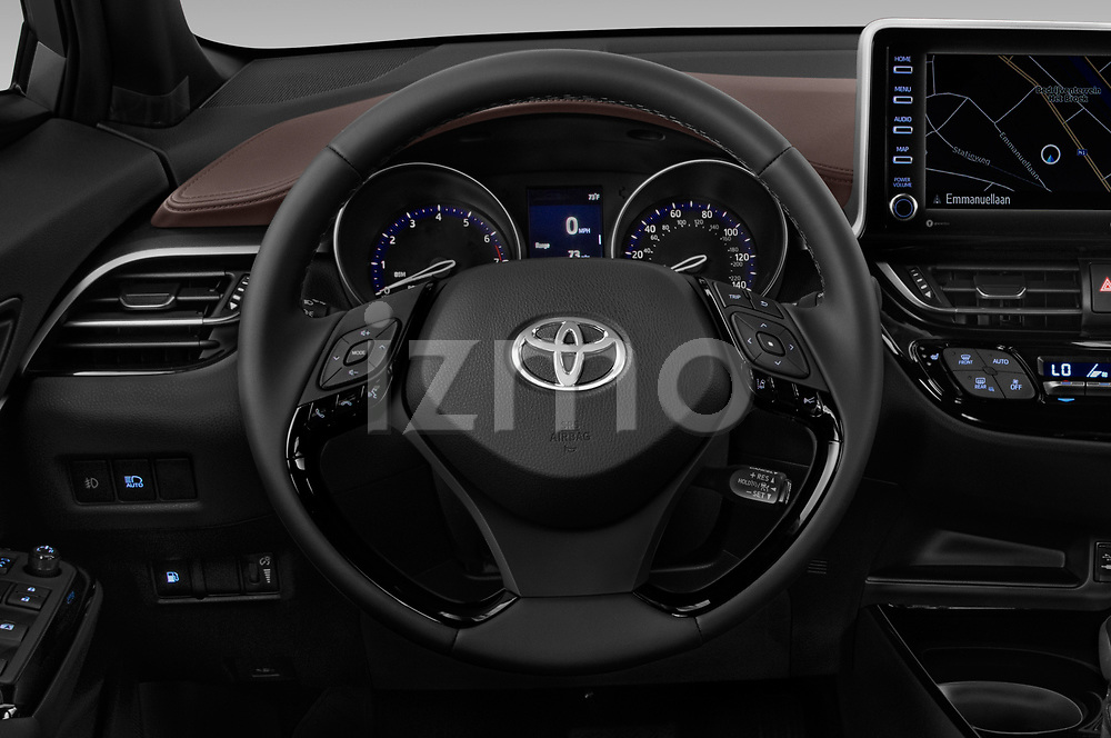 Car pictures of steering wheel view of a 2019 Toyota C-HR Limited Door SUV Steering Wheel