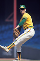 Oakland A's Ken Holtzman (30) in action during a game from his career with the Oakland A's. Ken Holtzman played for 15 years with 4 different teams.