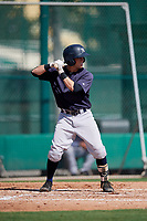 GCL Yankees West designated hitter Matt Pita (16) at bat during the first game of a doubleheader against the GCL Braves on July 30, 2018 at Champion Stadium in Kissimmee, Florida.  GCL Yankees West defeated GCL Braves 7-5.  (Mike Janes/Four Seam Images)
