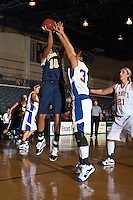 SAN ANTONIO, TX - JANUARY 15, 2009: The St. Edward's University Hilltoppers vs. the St. Mary's University Rattlers Women's Basketball at Bill Greehey Arena. (Photo by Jeff Huehn)