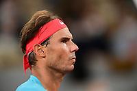 11th October 2020, Roland Garros, Paris, France; French Open tennis, mens singles final 2020;  Rafael Nadal Esp against Novak Djokovic