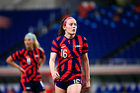 SAITAMA, JAPAN - JULY 24: Rose Lavelle #16 of the United States during a game between New Zealand and USWNT at Saitama Stadium on July 24, 2021 in Saitama, Japan.