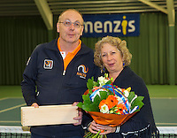 Rotterdam, The Netherlands, March 20, 2016,  TV Victoria, NOJK 14/18 years, Hans and Gila Langen  receive flowers<br /> Photo: Tennisimages/Henk Koster