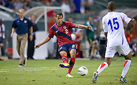 Carson, Ca-Friday Sept. 2, 2011: USA's Timmy Chandler centers the ball during a 1-0 loss to Costa Rica at the Home Depot Center.