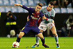 Celta de Vigo's Hugo Mallo (r) and FC Barcelona's Denis Suarez during Spanish Kings Cup match. January 4,2018. (ALTERPHOTOS/Acero)