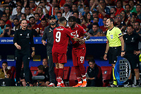 Roberto Firmino of Liverpool is substituted for Divock Origi of Liverpool during the UEFA Champions League Final match between Tottenham Hotspur and Liverpool at Wanda Metropolitano on June 1st 2019 in Madrid, Spain. (Photo by Daniel Chesterton/phcimages.com)<br /> Foto Daniel Chesterton PHC/ Insidefoto <br /> ITALY ONLY