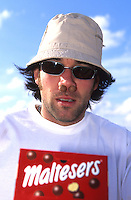 Rob Warner with Maltesers up his nose.pic copyright Steve Behr / Stockfile