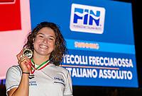 PILATO Benedetta Gold<br /> 50 Breaststroke Women podium<br /> Roma 12/08/2020 Foro Italico <br /> FIN 57 Trofeo Sette Colli - Campionati Assoluti 2020 Internazionali d'Italia<br /> Photo Giorgio Scala/DBM/Insidefoto