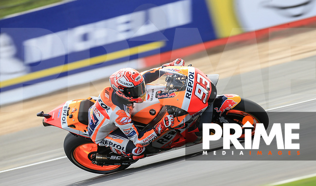 Marc Marquez (93) of the Repsol Honda Team race team during the GoPro British MotoGP at Silverstone Circuit, Towcester, England on 24 August 2018. Photo by Chris Brown / PRiME Media Images