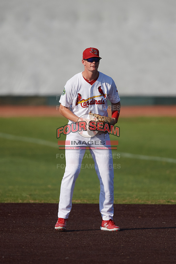 Johnson City Cardinals first baseman Kevin Woodall (34) during a game against the Danville Braves on July 29, 2018 at TVA Credit Union Ballpark in Johnson City, Tennessee.  Johnson City defeated Danville 8-1.  (Mike Janes/Four Seam Images)