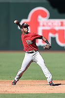 Arizona Diamondbacks second baseman Fernery Ozuna (2) during an Instructional League game against the Oakland Athletics on October 10, 2014 at Chase Field in Phoenix, Arizona.  (Mike Janes/Four Seam Images)