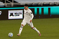 ST PAUL, MN - NOVEMBER 4: Ignacio Aliseda #7 of Chicago Fire FC passes the ball during a game between Chicago Fire and Minnesota United FC at Allianz Field on November 4, 2020 in St Paul, Minnesota.