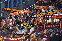 12th September 2021; Olympic Stadium, Rome, Italy, Serie A championship football, Roma versus Sassuolo ; Roma fans show their support