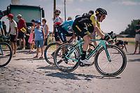 Steven Kruijswijk (NED/LottoNL-Jumbo) at the end of pavé sector #9<br /> <br /> Stage 9: Arras Citadelle > Roubaix (154km)<br /> <br /> 105th Tour de France 2018<br /> ©kramon
