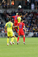 St. Paul, MN - Tuesday June 18, 2019: Gyasi Zardes of the United States during a 2019 CONCACAF Gold Cup group D match between the United States and Guyana on June 18, 2019 at Allianz Field in Saint Paul, Minnesota.