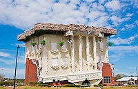Panama City Florida tourism attraction called Wonder Works tilted building for tourists