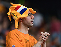 The Hague, The Netherlands, September 17, 2017,  Sportcampus , Davis Cup Netherlands - Chech Republic, Dutch supporter<br /> Photo: Tennisimages/Henk Koster