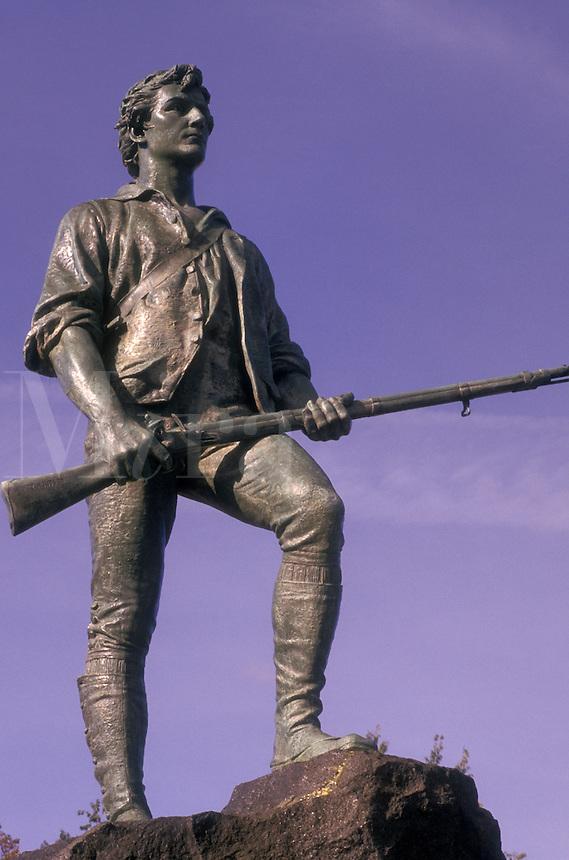 Lexington, Massachusetts, Minute Man Statue of Captain John Parker.