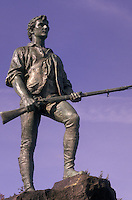 Lexington, Massachusetts, Minute Man Statue of Captain John Parker.